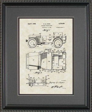 Jeep Willys Patent Art, Jones, 1942