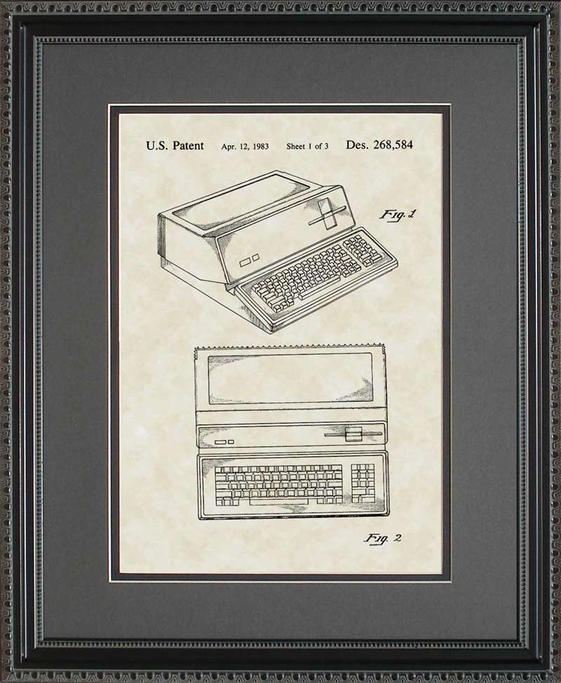 Apple Computer Patent Art, Steve Jobs, 1983