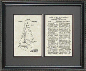 Sailboat Patent, Art & Copy, Ljungstrom, 1921, 16x20