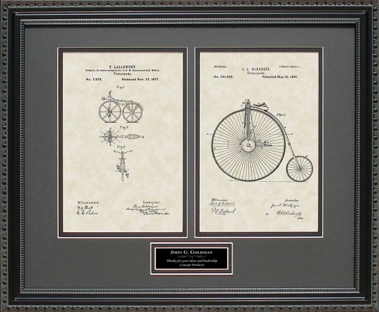 Personalized Early Bicycles Patents, 16x20