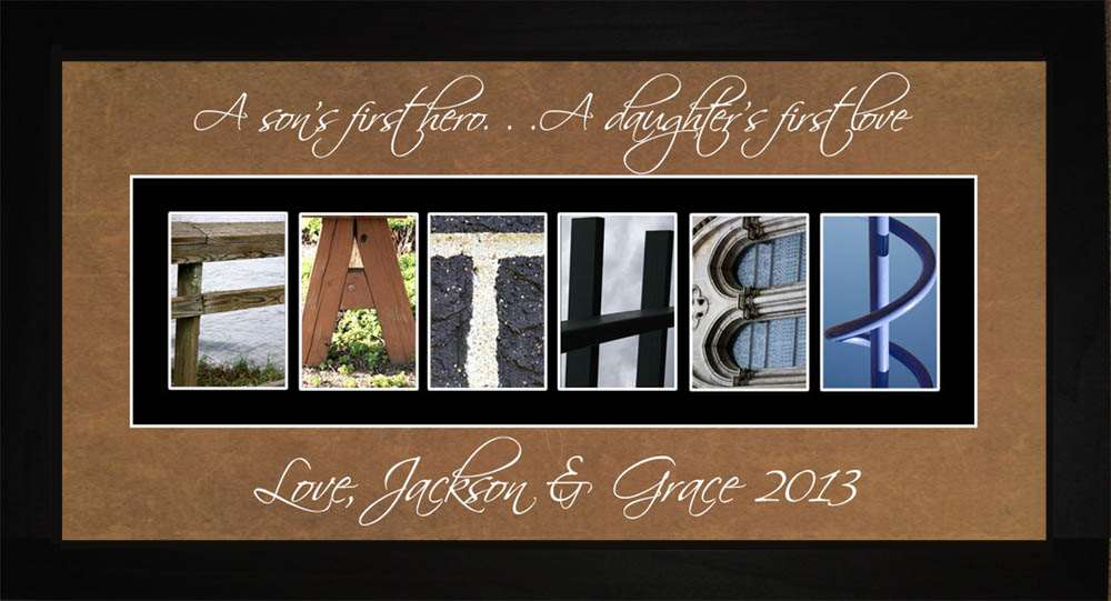 FATHER Personalized Photography Letter Art, 10x20