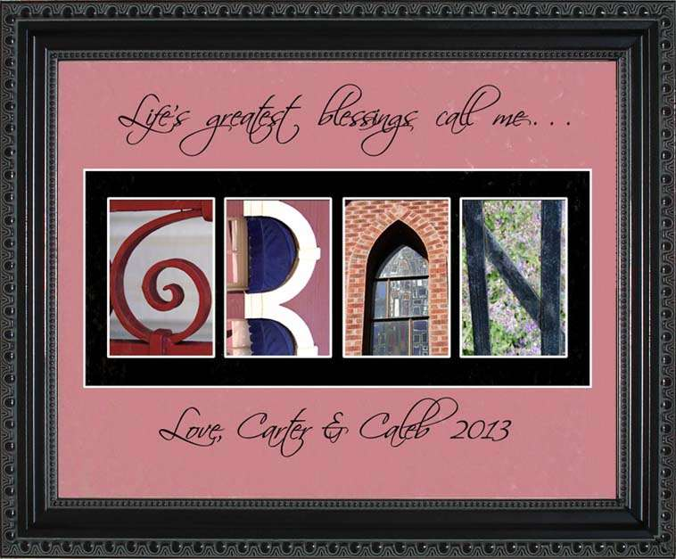 GRAN Personalized Photography Letter Art, 11x14