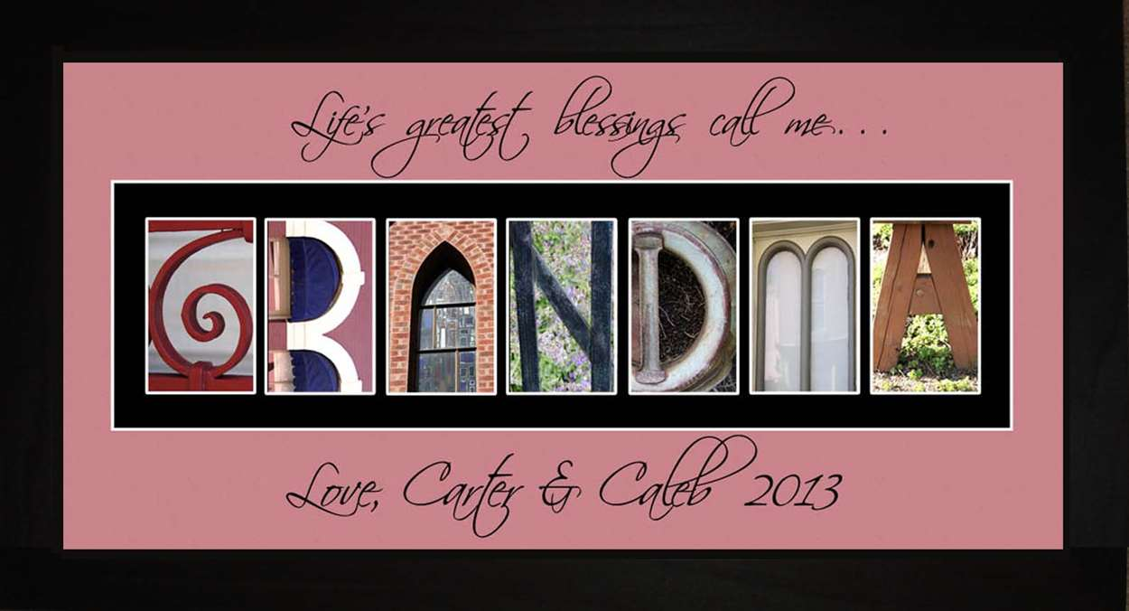 GRANDMA Personalized Photography Letter Art, 10x20