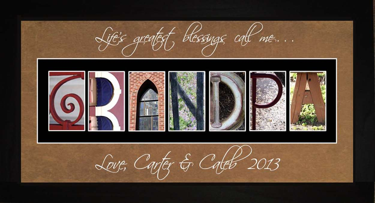 GRANDPA Personalized Photography Letter Art, 10x20