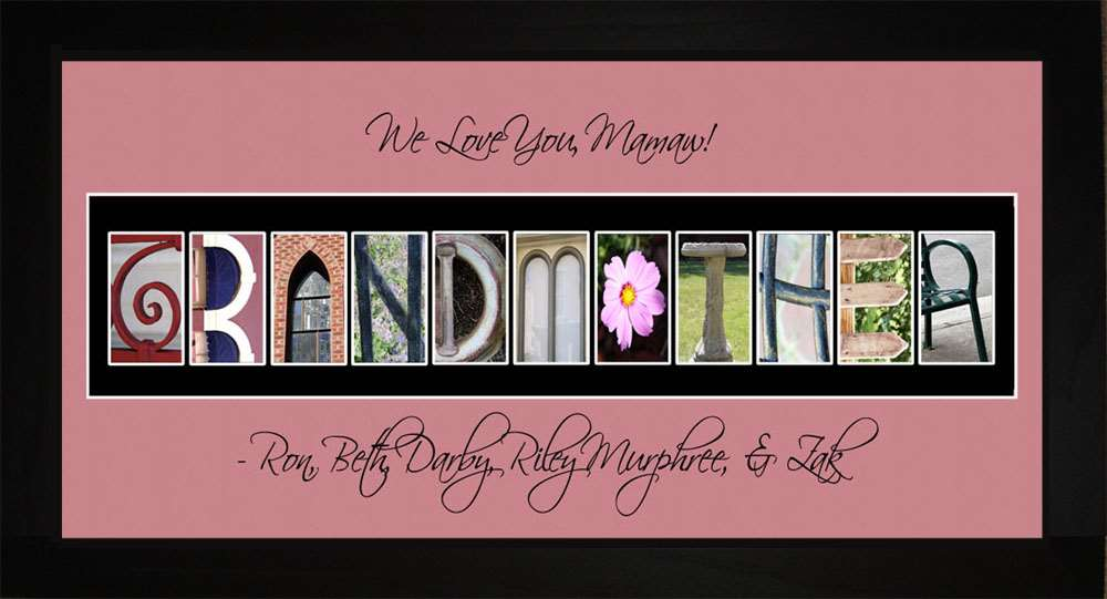 GRANDMOTHER Personalized Photography Letter Art, 10x20