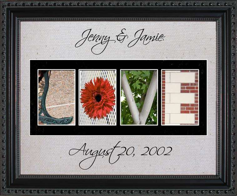 LOVE Personalized Photography Letter Art, 11x14