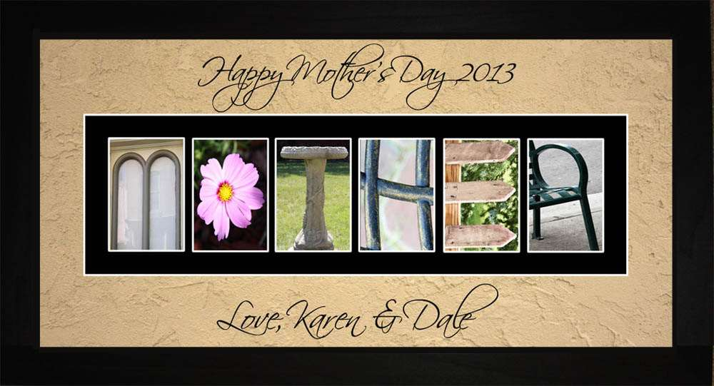 MOTHER Personalized Photography Letter Art, 10x20