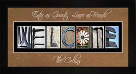 WELCOME Personalized Photography Letter Art, 10x20
