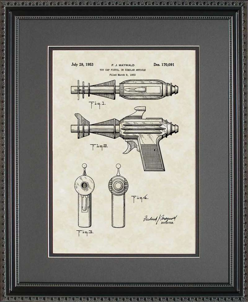 Sonic Ray Gun Patent Art, Maywald, 1953
