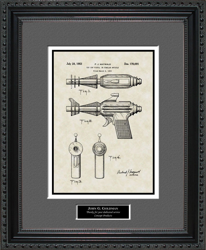Personalized Sonic Ray Gun Patent Art, Maywald, 1953