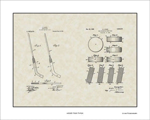 Hockey Puck & Stick Patents, 16x20