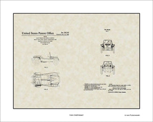Manx Dune Buggy Patent, Art & Copy, Meyers, 1966, 16x20