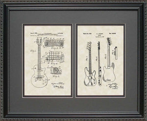 Electric & Fender Guitars Patents, 16x20