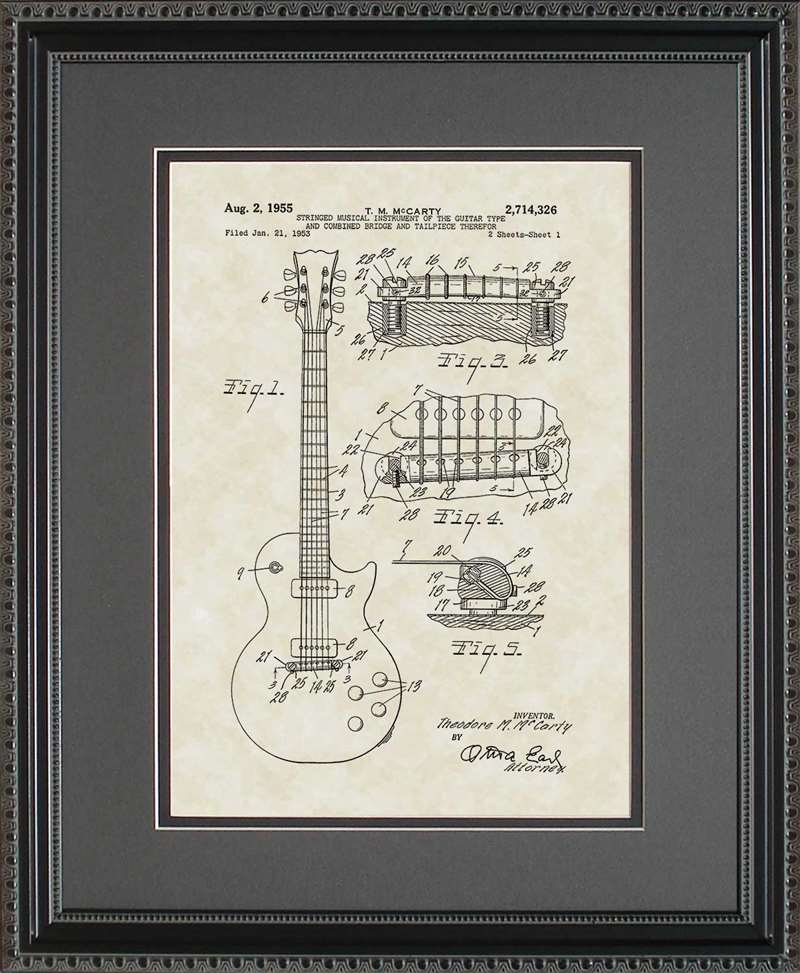 Electric Guitar Patent Art, McCarty, 1955