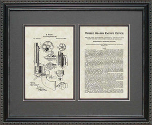Early Revolver Patent, Art & Copy, Mason, 1875, 16x20