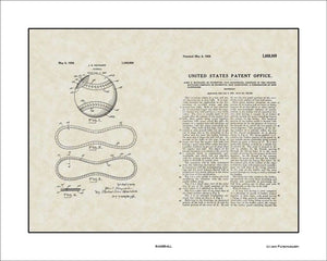 Baseball Patent, Art & Copy, Maynard, 1928, 16x20