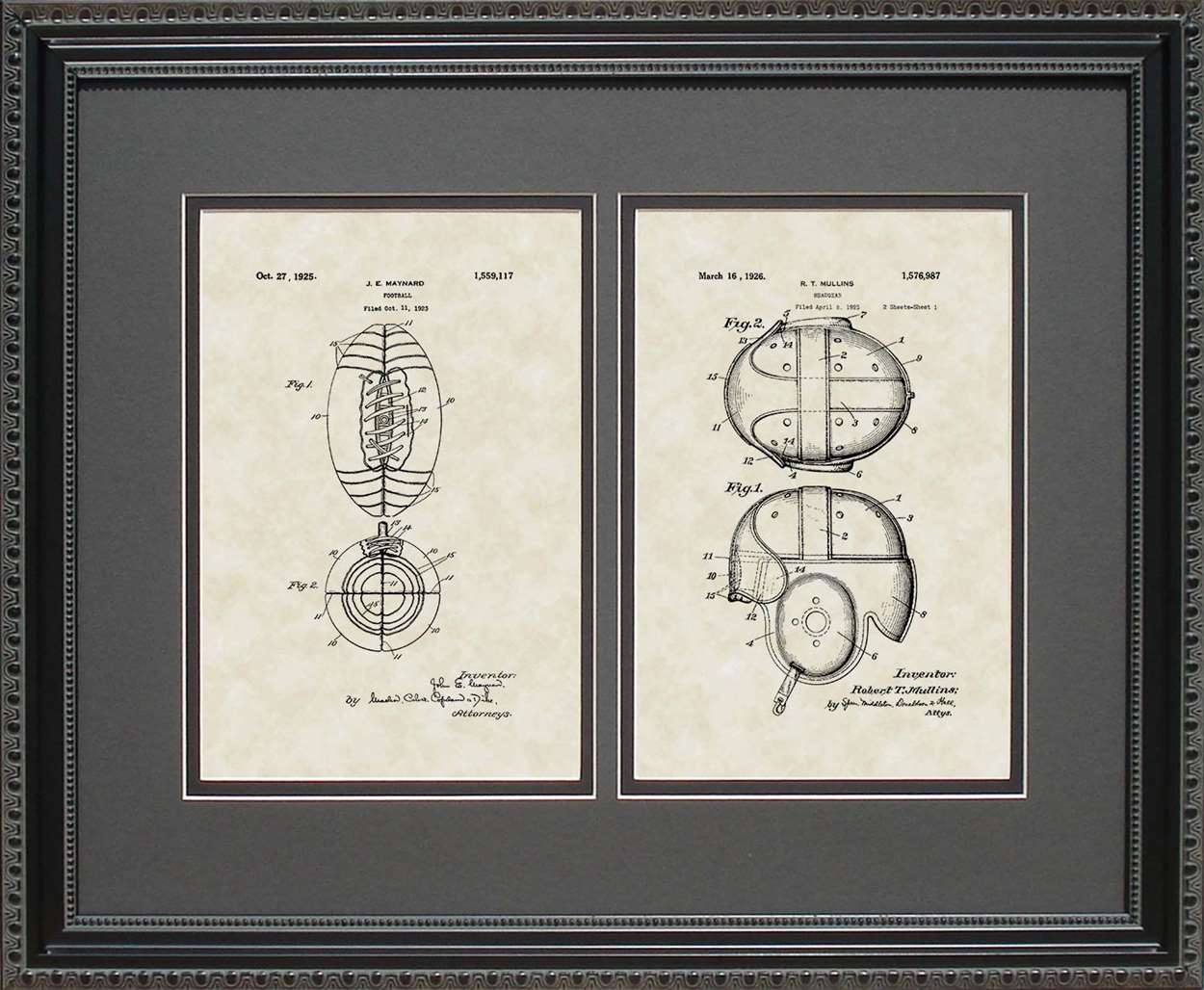 Football & Helmet Patents, 16x20