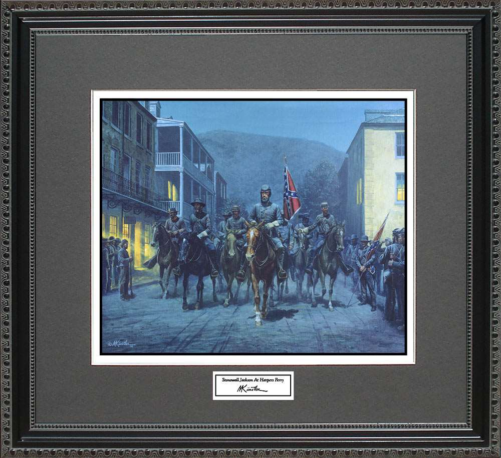 Stonewall Jackson At Harpers Ferry, Mort Kunstler, 18x16