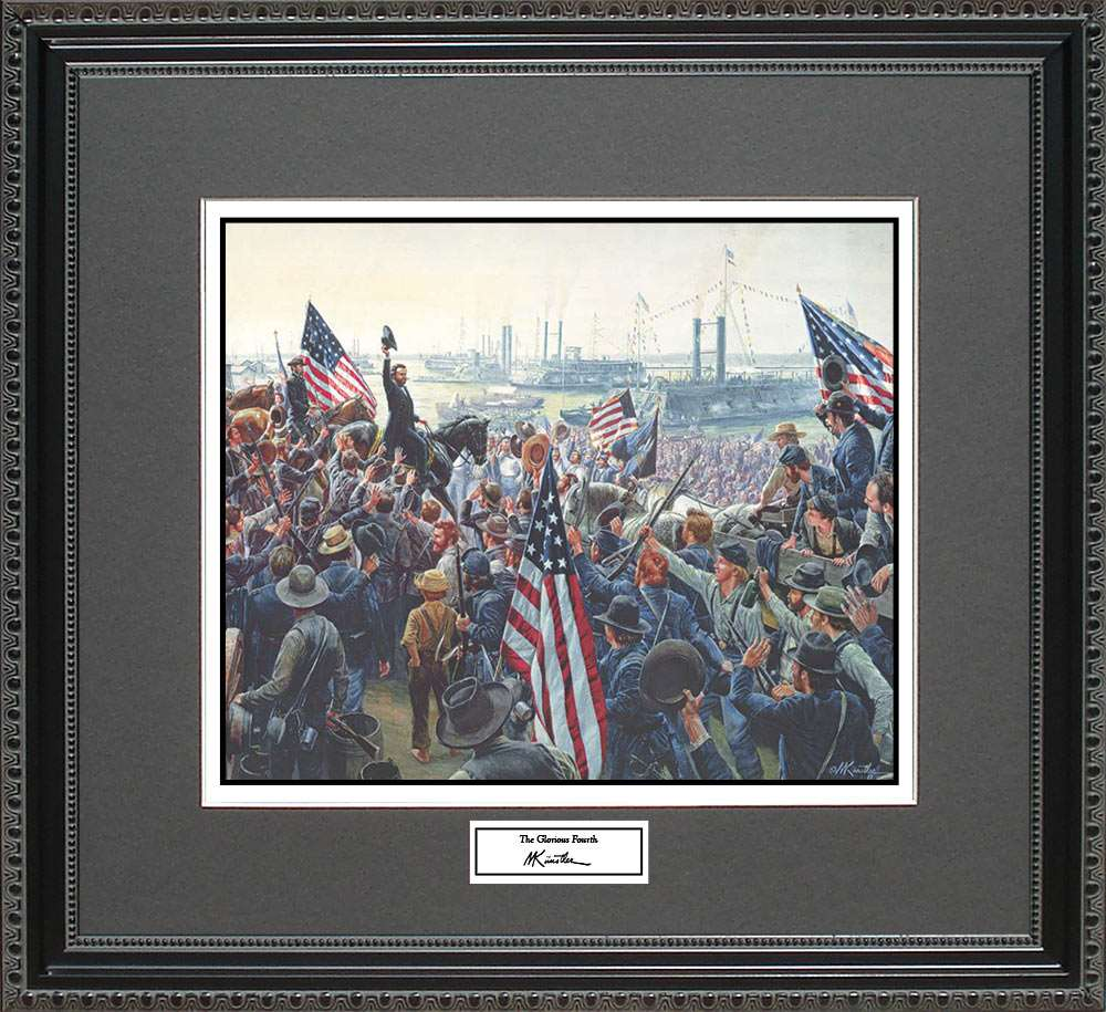 The Glorious Fourth, Mort Kunstler, 18x16