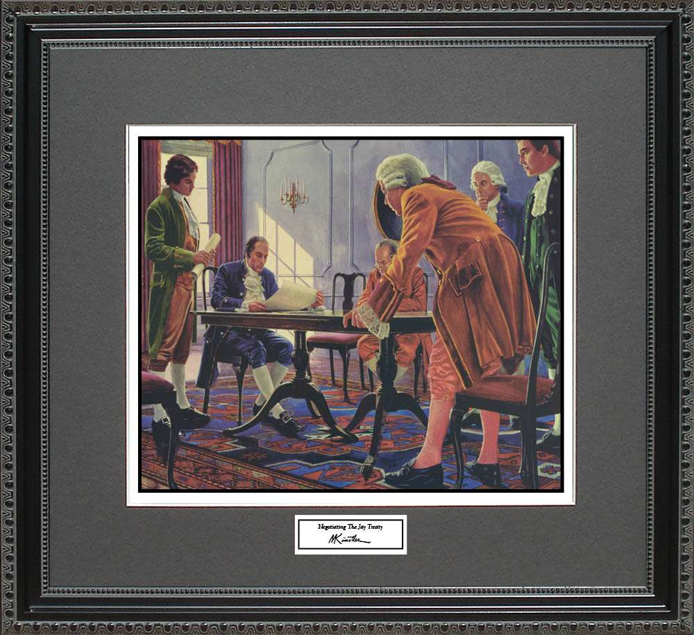 Negotiating The Jay Treaty, Mort Kunstler, 18x16
