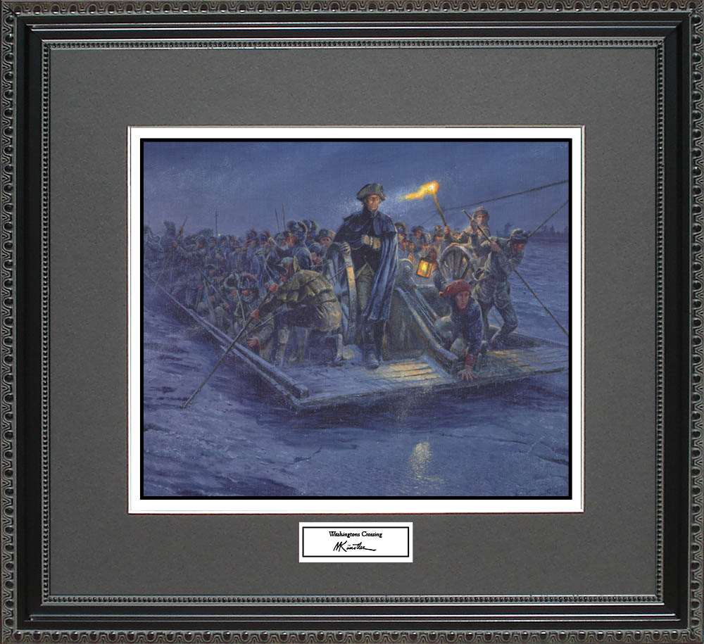 Washingtons Crossing, Mort Kunstler, 18x16