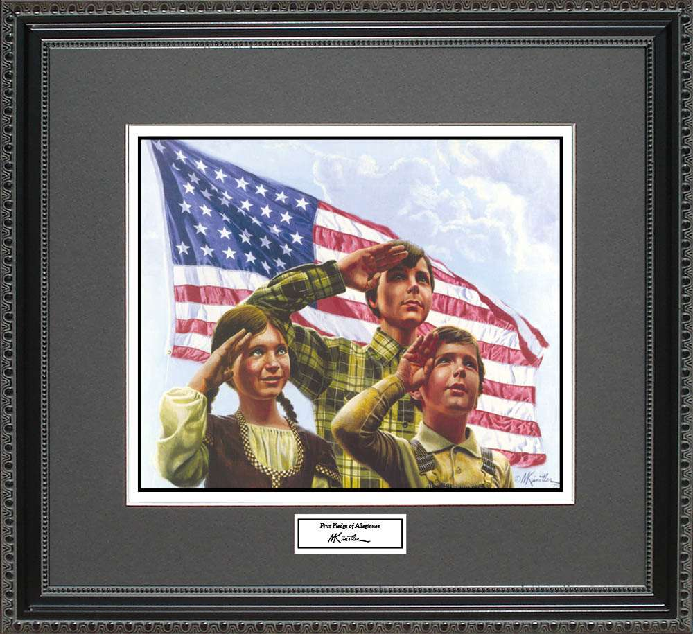 First Pledge of Allegiance, Mort Kunstler, 18x16