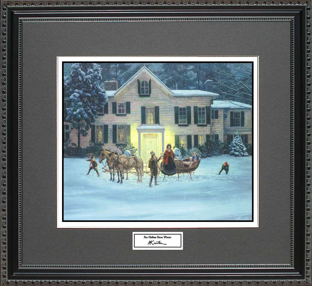 Fox Hollow Farm Winter, Mort Kunstler, 18x16