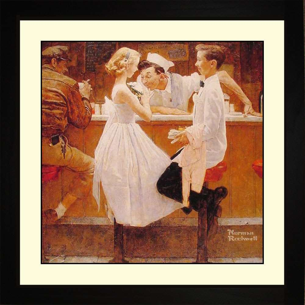 After the Prom, Norman Rockwell, 16x16