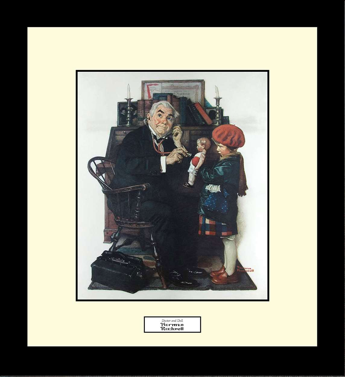 Doctor and Doll, Norman Rockwell, 16x18