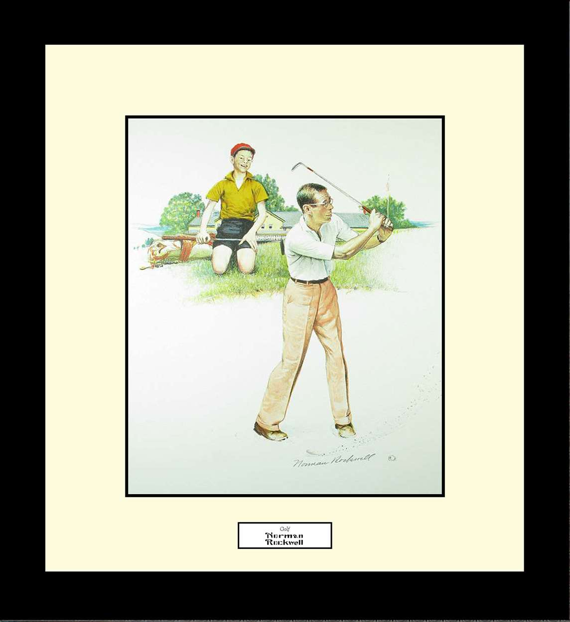 Golf, Norman Rockwell, 16x18