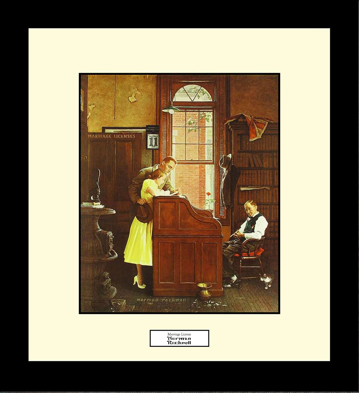 Marriage License, Norman Rockwell, 16x18