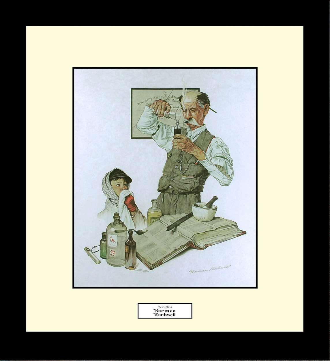 Prescription, Norman Rockwell, 16x18