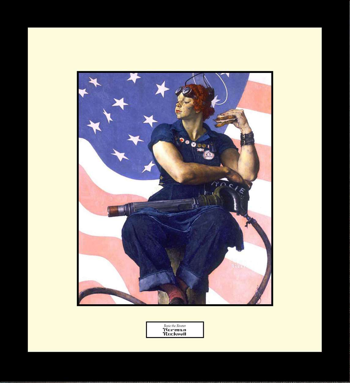Rosie the Riveter, Norman Rockwell, 16x18