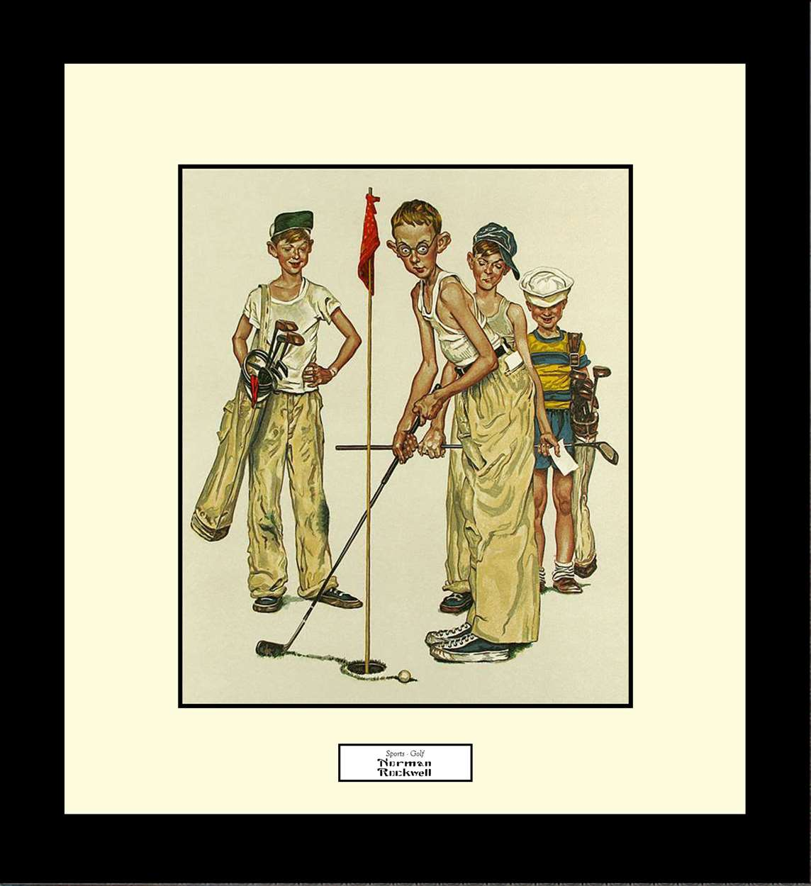 Sports - Golf, Norman Rockwell, 16x18