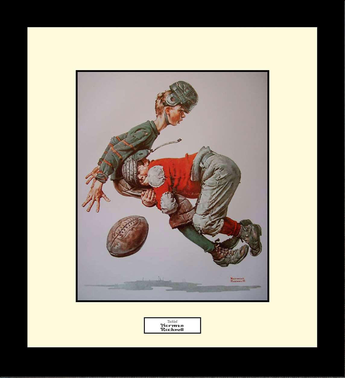 Tackled, Norman Rockwell, 16x18