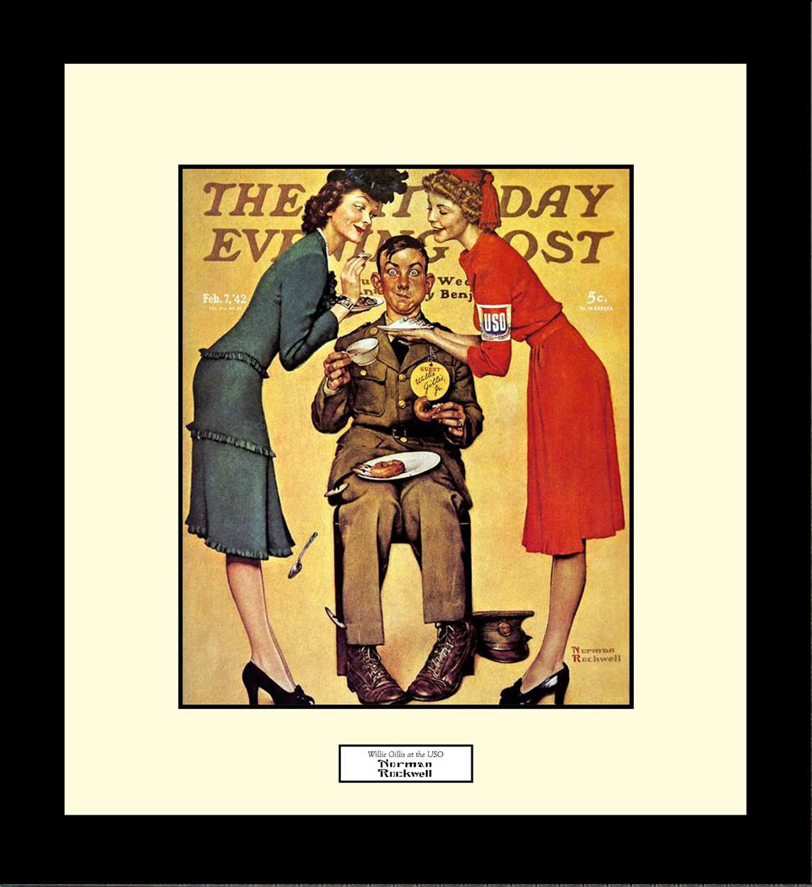 Willie Gillis at the USO, Norman Rockwell, 16x18