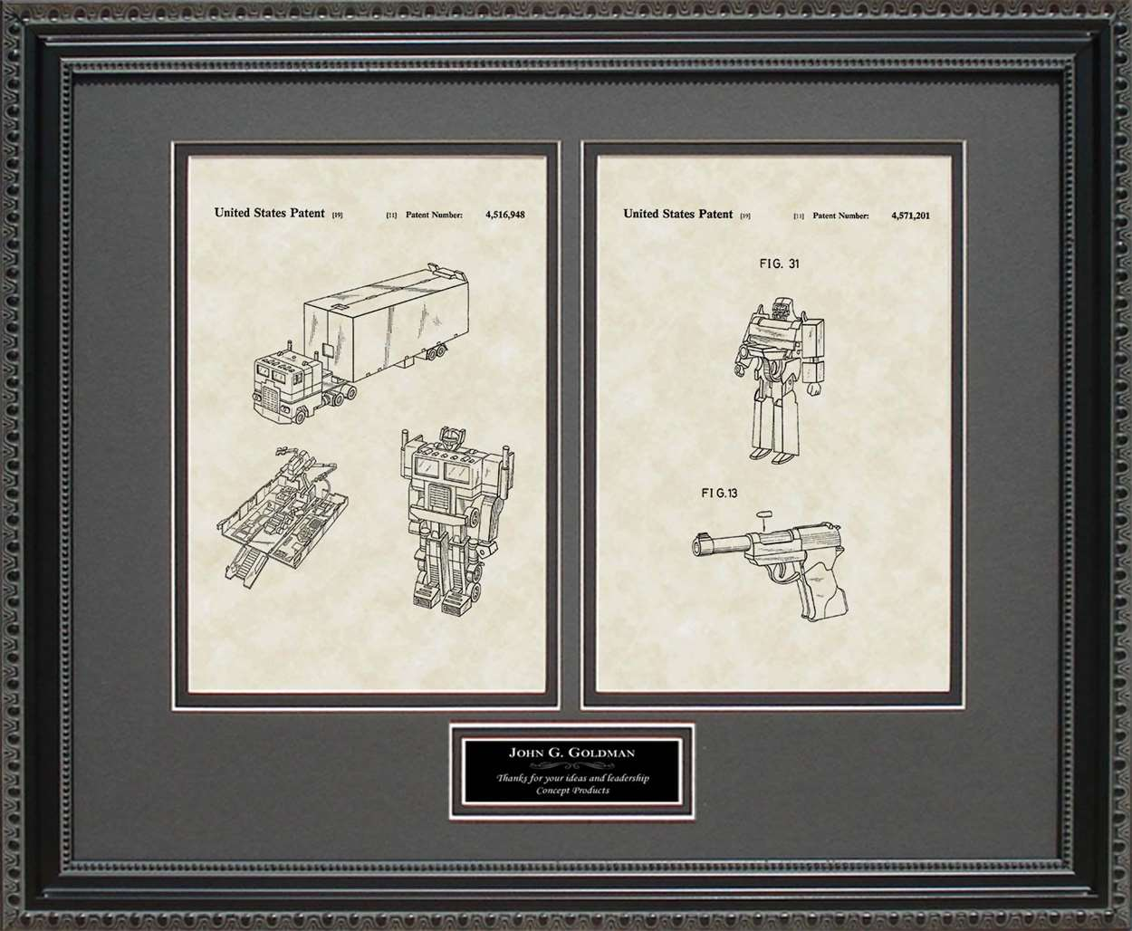 Personalized Transformers Patents, 16x20