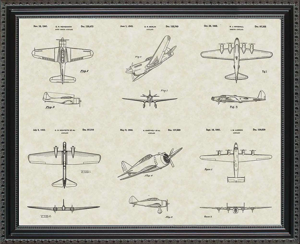 Early Military Aircraft Patents, 20x24