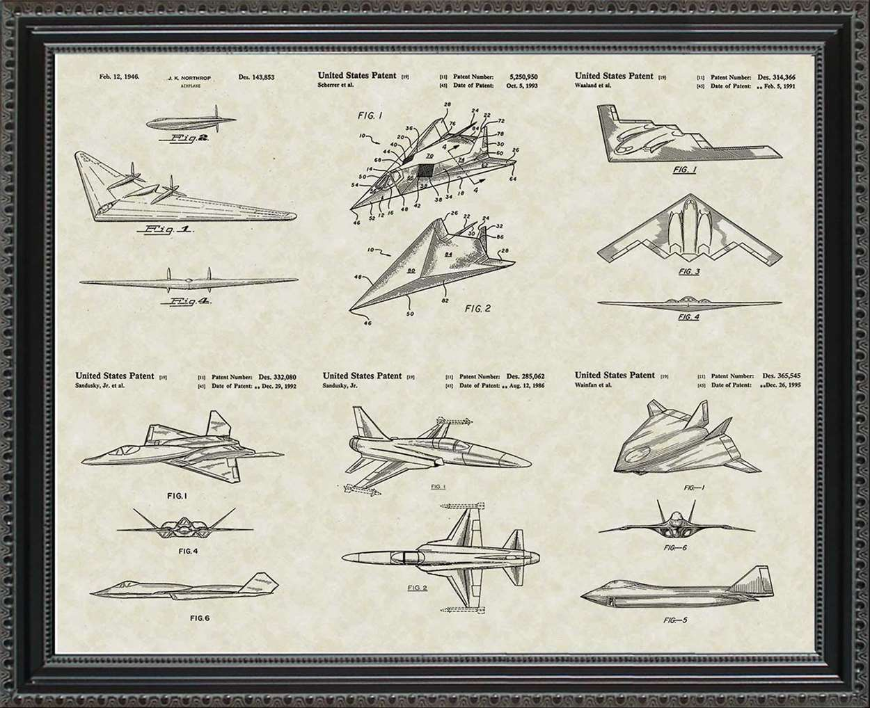 Military Aircraft Patents, 20x24