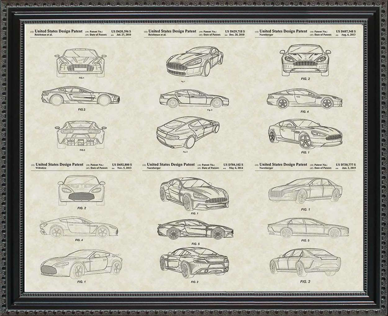 Aston-Martin Patents, 20x24