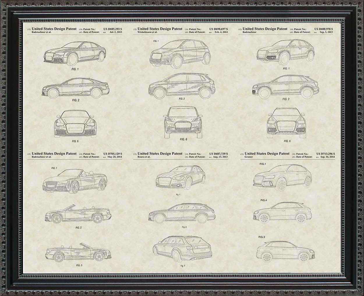 Audi Patents, 20x24