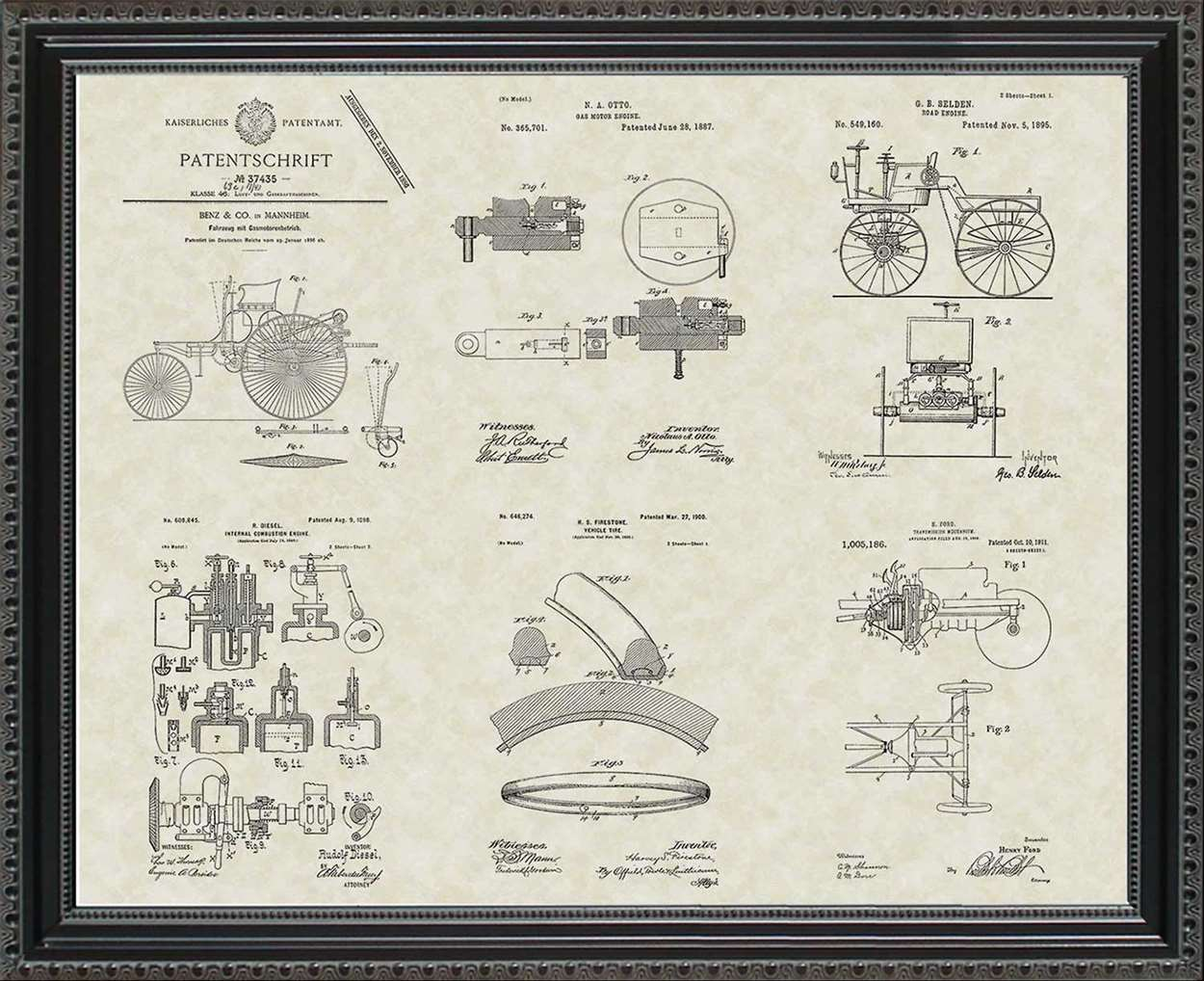 Auto & Mechanic Patents, 20x24