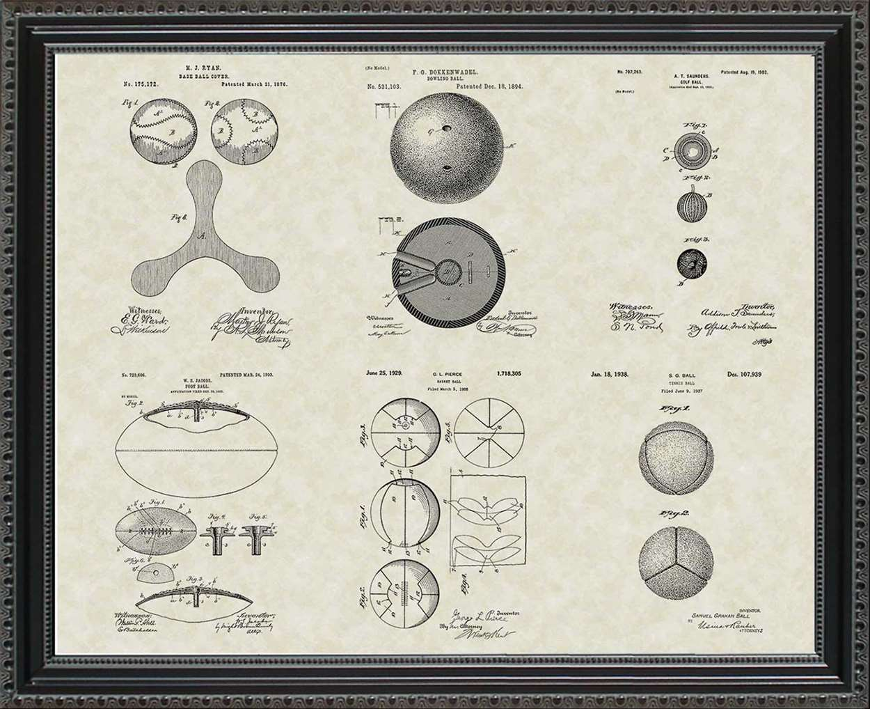Sports Ball Patents, 20x24