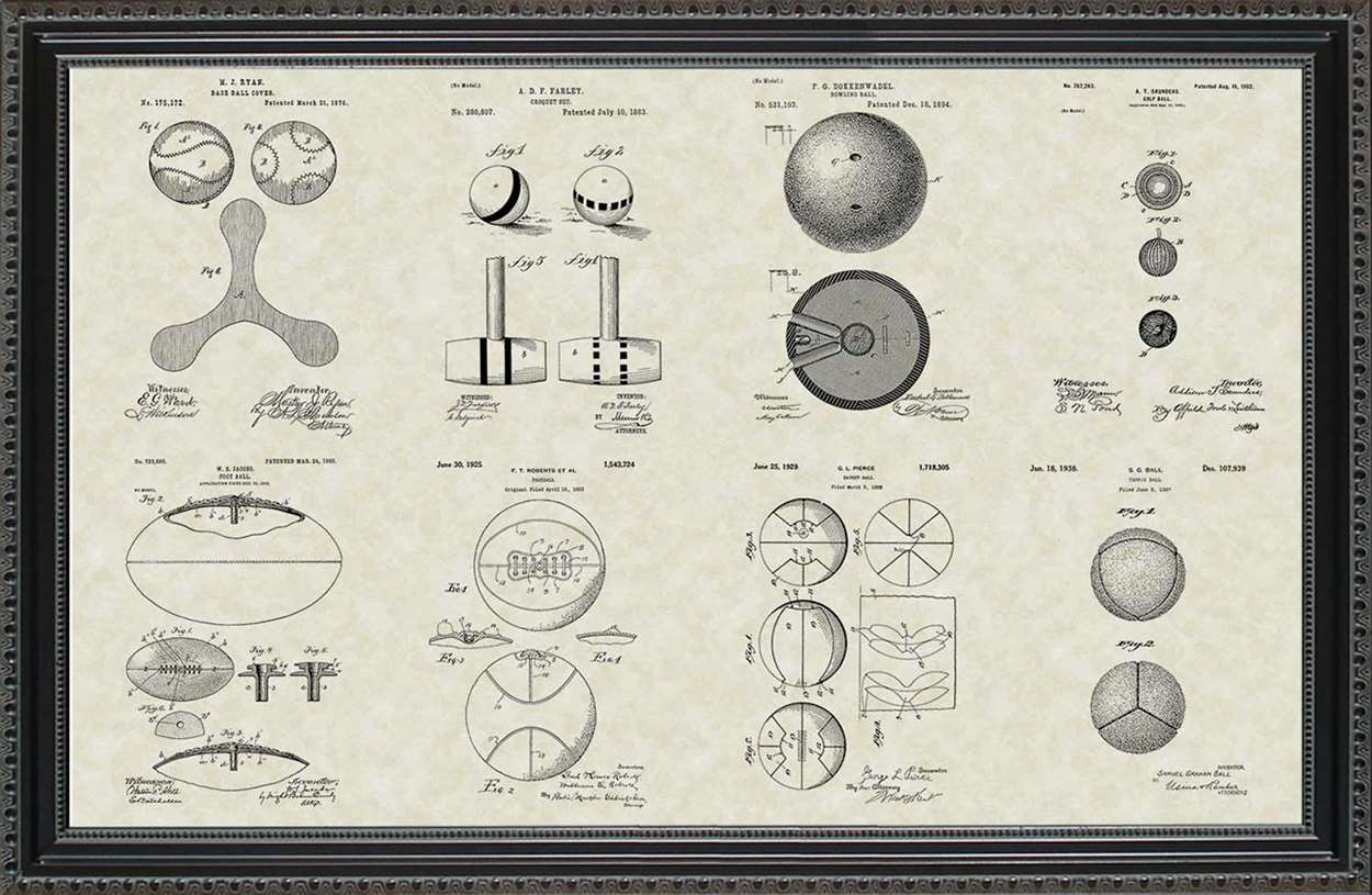 Sports Ball Patents, 20x30