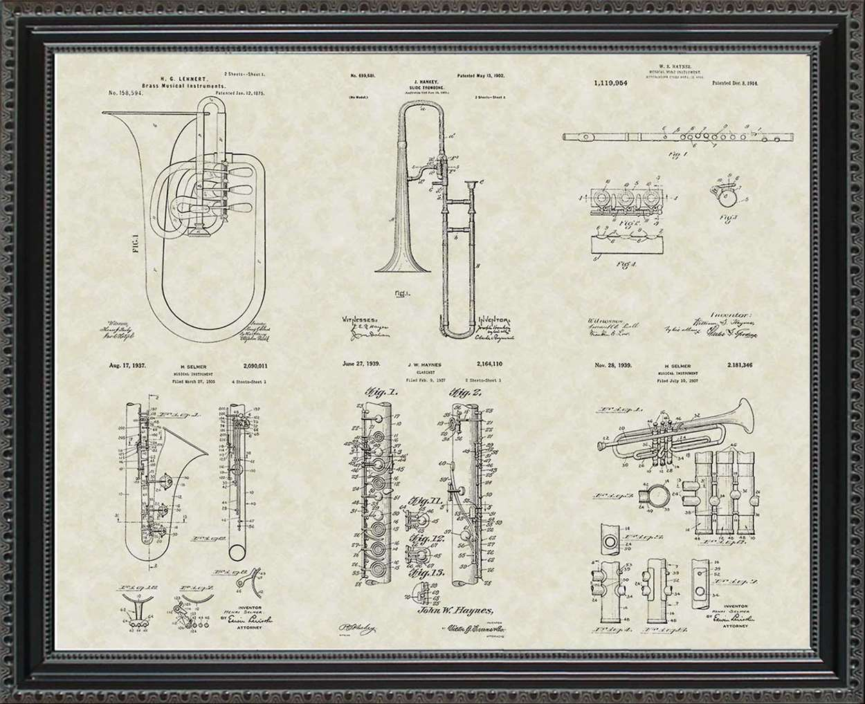 Band Instrument Patents, 20x24