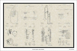 Band Instrument Patents, 20x30