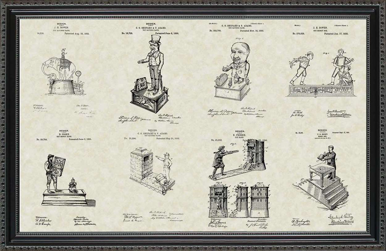 Mechanical Toy Bank Patents, 20x30