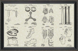 Baseball Equipment Patents, 20x30