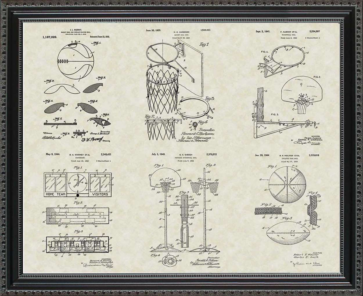 Basketball Equipment Patents, 20x24