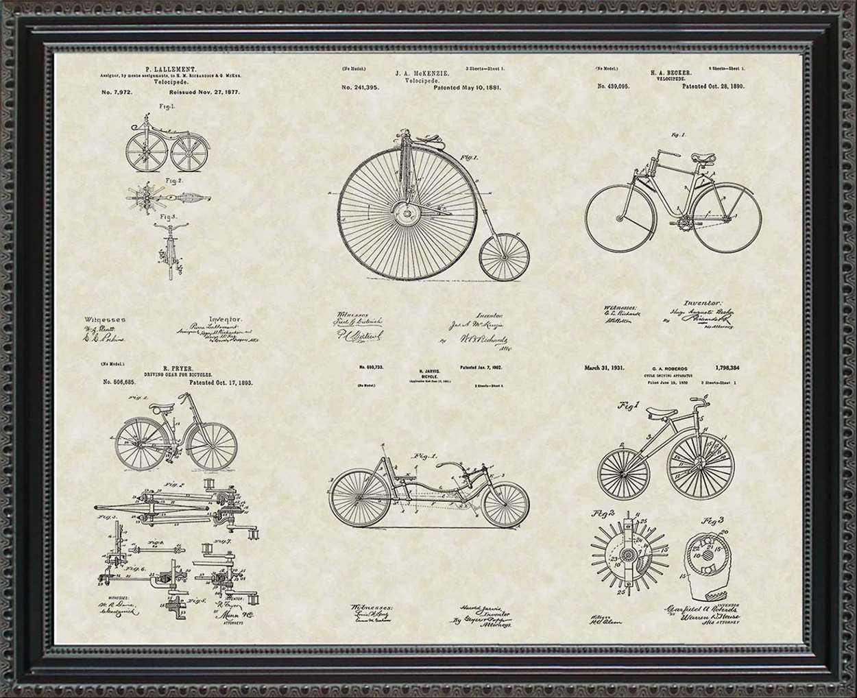 Bicycle Patents, 20x24